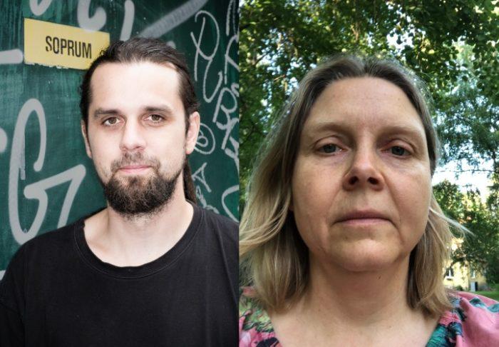 Till vänster Andreas Jakobsson, till höger Ingrid Strind